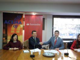 Acema firma un acuerdo con el Banco de Santander
