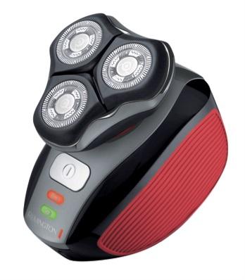 Afeitadora rotativa Flex 360° de Remington, el control en la palma de la mano, en rojo