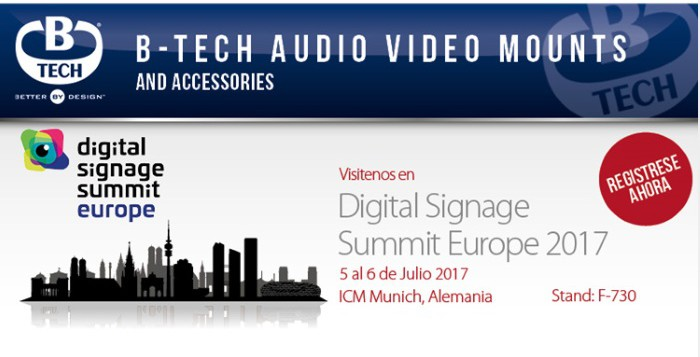 B-Tech, presente en el encuentro European Digital Signage Summit de Munich