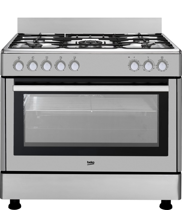 Cocinas semi profesionales beko de 90 cm for Cocina para gas natural