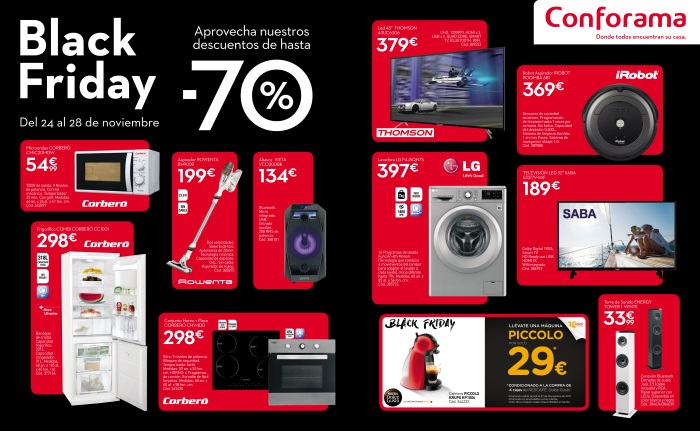Descuentos de hasta el 70 en el black friday de conforama for Conforama black friday