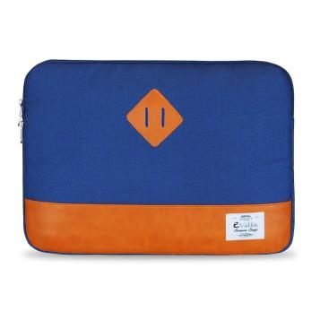 E-Vitta Heritage Sleeve protege al portátil con estilo, disñeo azul y naranja