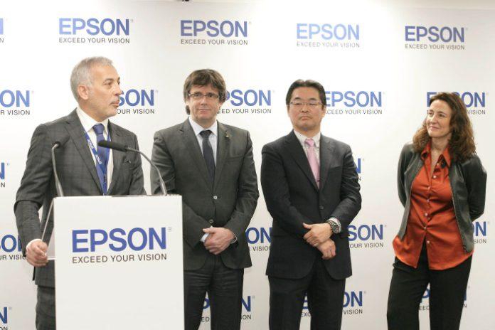 El president de la Generalitat inaugura la nueva sede corporativa de Epson Ibérica en Sant Cugat del Vallés