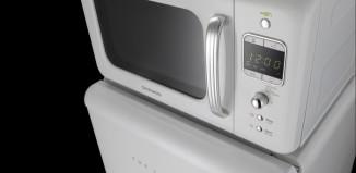 Estilo y diseño retro en el nuevo microondas de Daewoo