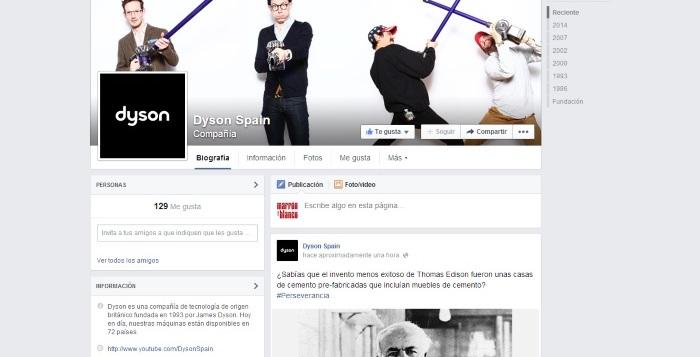 Facebook Dyson Spain