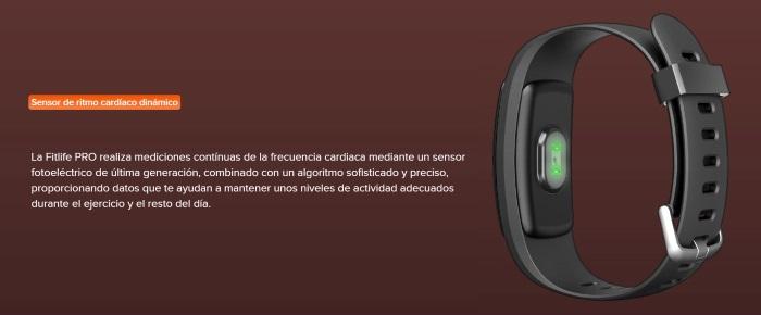 Fitlife PRO de Sunstech, sensor cardíaco