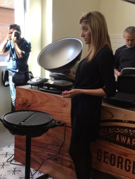George Foreman vuelve al mercado español para liderarlo, acto presentación
