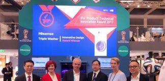 La lavadora de 3 tambores de Hisense gana el premio de Innovación en IFA
