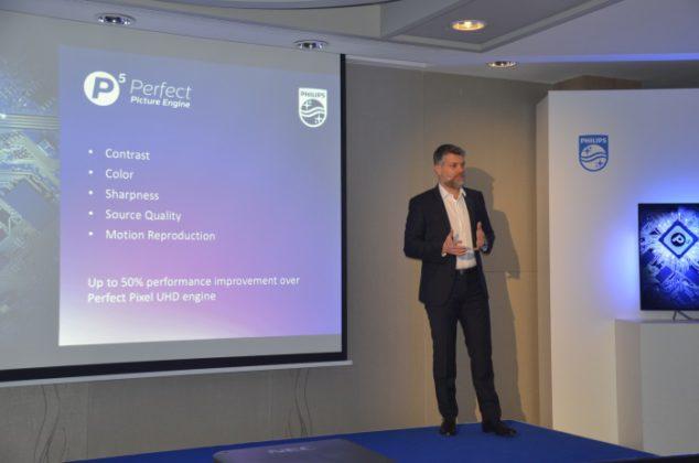Los televisores Philips dan un paso más en calidad de imagen con el nuevo motor de procesamiento P5, acto presentación