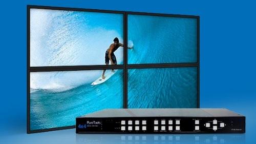 Matrix PT-MA-HD44-QV de Purelink distribuye la señal HDMI desde 4 fuentes