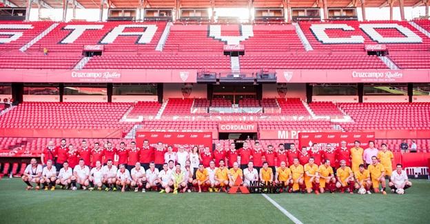Mitsubishi Electric se reúne con sus de la zona sur en el estadio Sánchez-Pizjuan, participantes partido