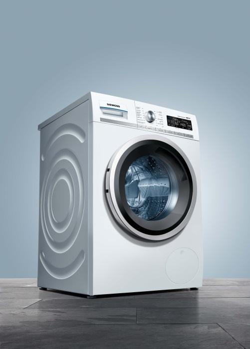 siemens ampl a su gama de lavadoras i dos marr n y blanco. Black Bedroom Furniture Sets. Home Design Ideas