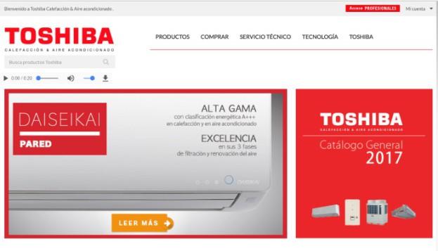 Toshiba Calefacción y Aire Acondicionado crece un 82% desde 2014