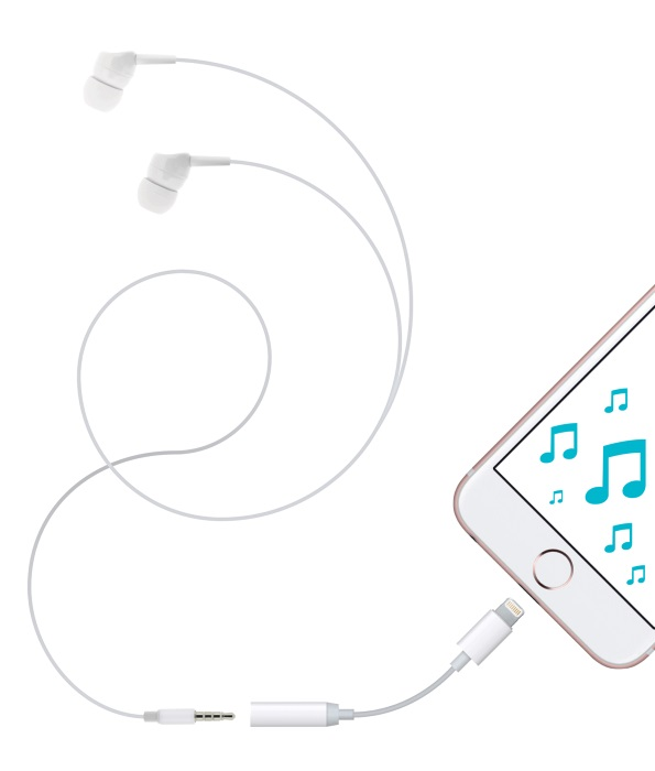 iPhone Audio Adapter de 4-OK by Blautel, para utilizar los auriculares de siempre